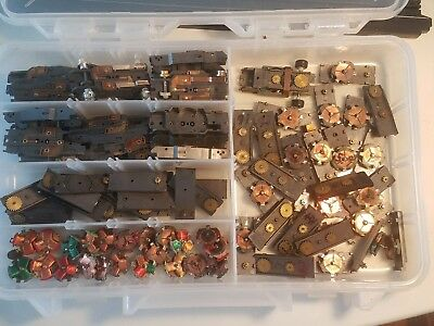 Vintage Aurora TJet HO SCALE SLOT BARE CHASSIS GEAR PLATES WITH ARMS PARTS LOT
