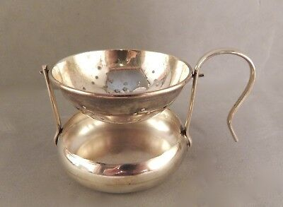 Vintage 20th Century Mexican Mexico Sterling Silver Mechanical Tea Strainer NR