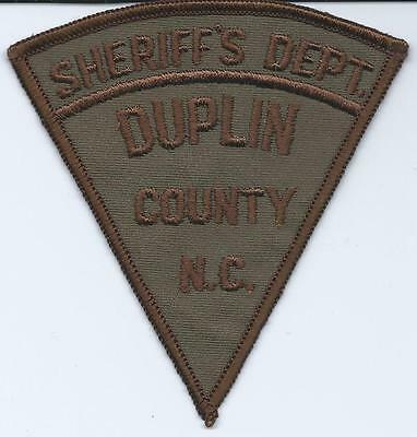 Vintage Duplin County Sheriff Department North Carolina Police Patch New Unused