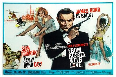 """James Bond - From Russia With Love - Movie Poster 18"""" X 12"""" Sean Connery"""