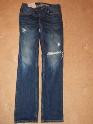 Boys Abercrombie & Fitch ripped Slim Jeans trousers. Size 11-12 years.