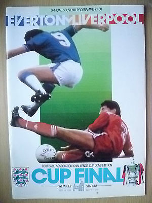 1986 FA Cup FINAL Programme- EVERTON v LIVERPOOL (Exc, Genuine*).
