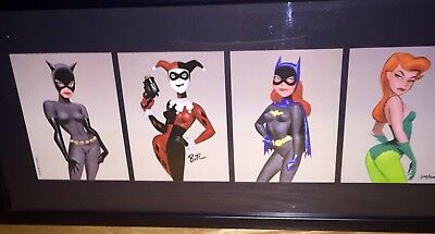 The Women Of Batman Signed Framed Bruce Timm Limited Print FREE SHIPPING