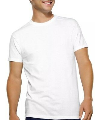 Fruit of the Loom Boys 4 Pack Tagless Crew Neck White Cotton T-Shirt Sz S(6/8)