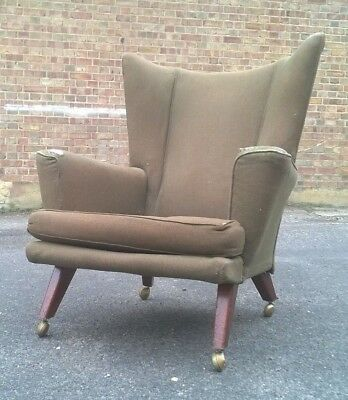 Retro Vintage Danish Style Easy Chair E Gomme Mid Century