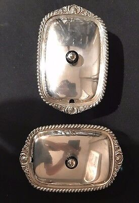 Antique Pair of Sheffield (?) Plate Sauce Boats English 19c hallmarked