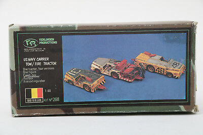 Verlinden Productions 1:48 Scale US Navy Carrier Tow/Fire Tractor, No. 268 &crew