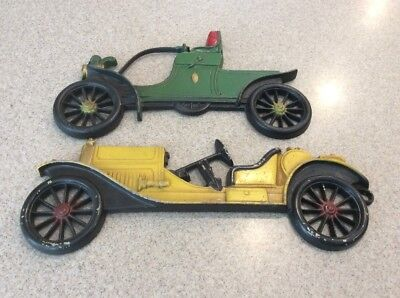 Vintage Cast Iron Old Car 2 Pack Wall Decorations Stutz & Oldsmobile by Midwest