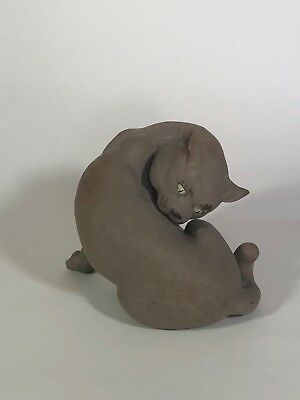 20th century Chinese Shiwan Art Pottery Figure of a Cat