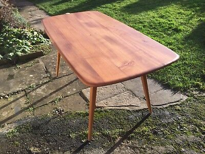 Beautiful vintage Ercol dining table, mid-century modern, seats 6