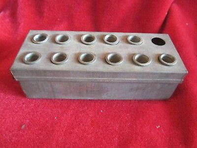 Vintage Apothecary Pharmacy Drugstore Brass plated Nickel  Suppository Mold