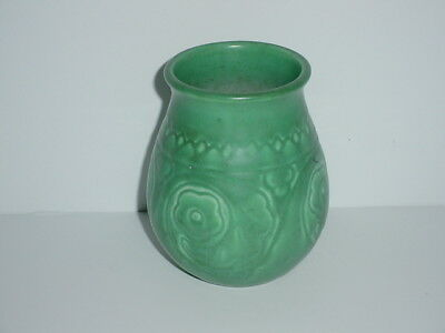 Rookwood Pottery Vase # 2855 Date 1927 Abstract Blossom Green Glaze