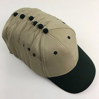 6 Cotton Blend Twill Low Profile Caps Hats Blanks Otto 19-062 Khaki Green