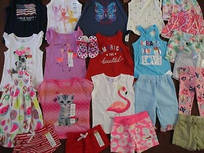 NWT'S  Girls 3T SUMMER Lot Clothes & Outfits Old Navy TCP Okie Dokie Carter's