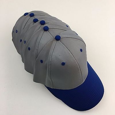6 Cotton Twill Low Profile Caps Hats Blanks Otto 19-062 Gray Cap Royal Visor