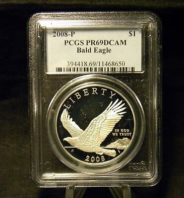 2008 Bald Eagle Commemorative Silver Dollar PCGS Proof 69 DCAM