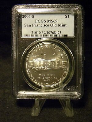 2006 San Francisco Old Mint Commemorative Silver Dollar PCGS MS 69