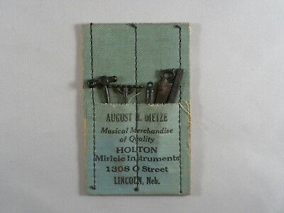 Antique Holton Instruments Miniature Toy Tool Advertising Dietze Lincoln Ne
