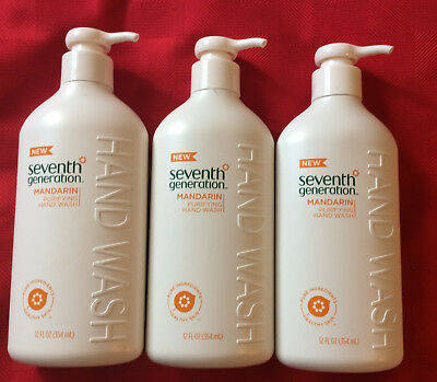3 PACK Seventh Generation PURIFYING Hand Wash - Mandarin 12 o.z ea FREE PRIORITY