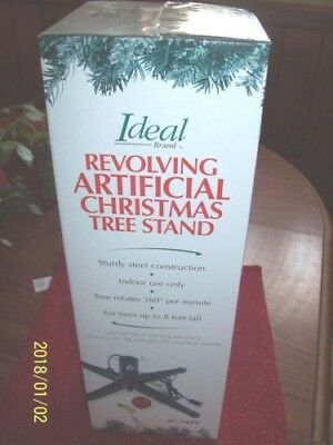 NEW Rotating Artificial Christmas Tree Stand Revolving Base Steel 95-24RV Ideal