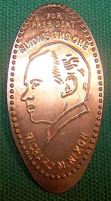 LPE-26: Elongated cent: FOR PRESIDENT NIXON'S THE ONE / RICHARD M. NIXON (Bust)