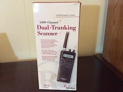 Radio Shack PRO-94 Dual Trunking Scanner 1000 Channel