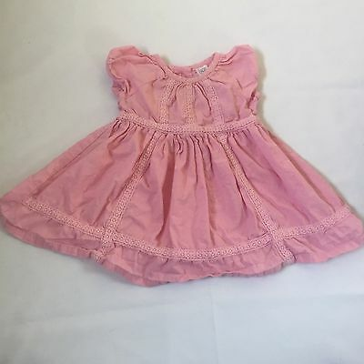 Pink lace & dots detailed summer dress baby girls clothes 3-6 Months
