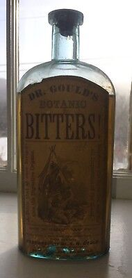 Dr S.n. Gould's Botanic Bitters- West Randolph Vermont - Label Only Bitters
