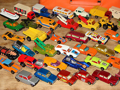 48 matchbox cars,trucks/superfast series,1969-1979,all were kept in CARRY CASE