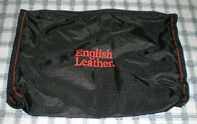 Vintage English Leather Black Nylon Accessories Pouch Promo