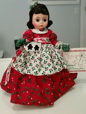 """Madame Alexander 8"""" Wendy Lil Christmas Cookie #341 Doll Mib Tag Kaiser Stand"""