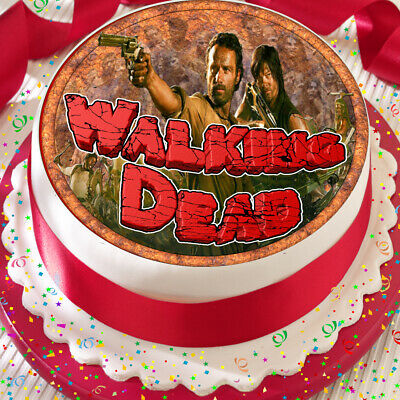 Walking Dead /& Zombie Fingers Printed Pre Cut Icing Sheet Cake Decoration Topper