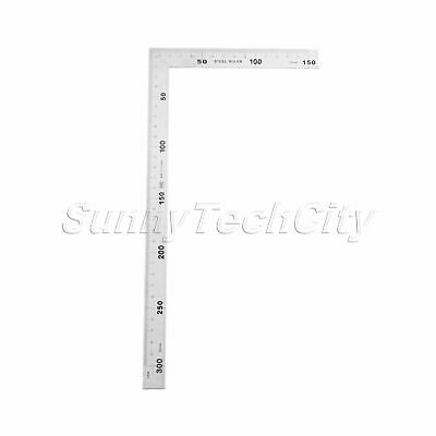 1pc Metric Square Ruler 90 Degree Angle Corner Measuring Ruler Tool 150mm*300mm