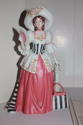 1994 Mrs. P.F.E. Albee Avon President's Club figurine in box fan stripes bag