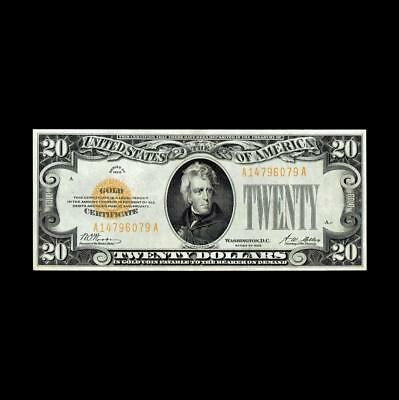 Impeccable 1928 $20 Gold Certificate Spectacular Gem Uncirculated