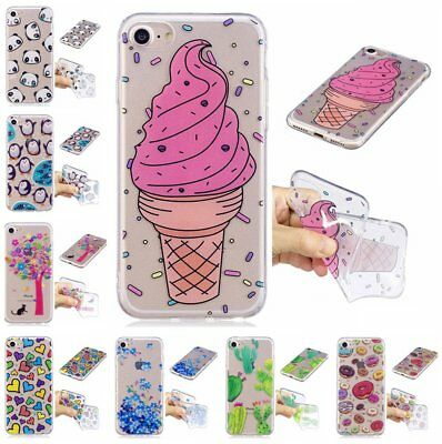 Cute Thin TPU Clear Pattern Silicone Gel Back Case Cover For Huawei Moto ASUS KU