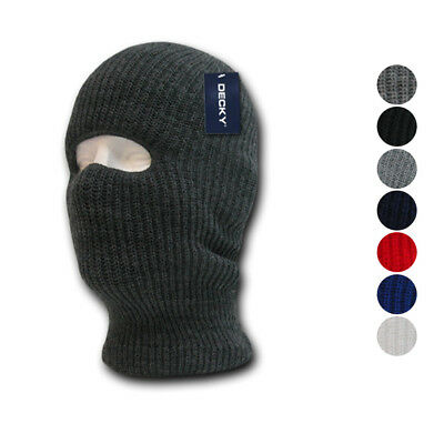 4f818742080287 1 Dozen DECKY Ski Face Mask 1 Hole Balaclava Beanies Knit Wholesale Lot