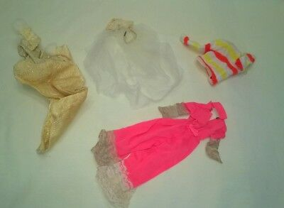 Vintage Mod Tagged Barbie Clothing Lot Tlc As Is Cheap $11.99