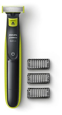 Philips Norelco OneBlade Hybrid Electric Trimmer and Shaver, QP2520/70 Black N