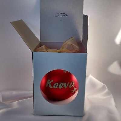 European Glass Personalized Christmas baubles in display box $19 top quality.