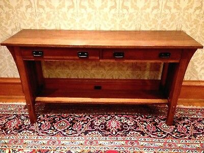 Arts and Crafts Mission Quarter Sawn Oak Sofa Table by Stickley Audi & Co.