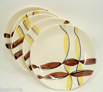 "Blue Ridge Southern Pottery 4 + 1 Free 8"" Lunch or Salad Plates Twisted Ribbon"
