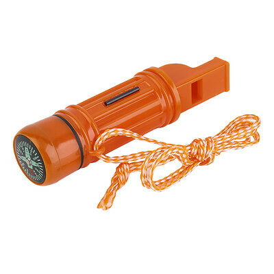 5 in 1 Multi-function Emergency Survival Compass Whistle Camping Tool GT W0