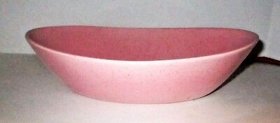 Mid-Century Modern Speckled Serving Bowl Dish Vernon Ware TICKLED PINK Pottery