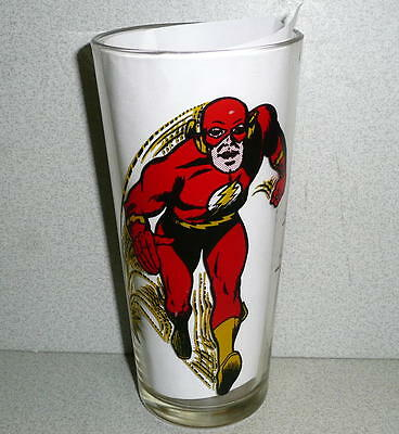 Vintage Pepsi Collector Glass DC Comics 1971 THE FLASH SUPERHERO *EX