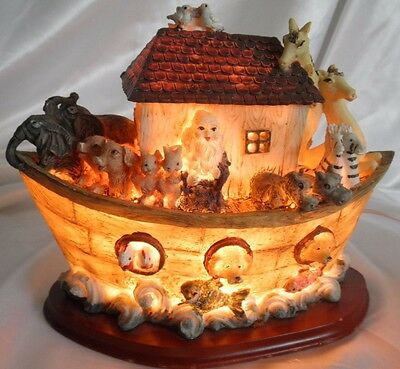 Children's Noah's Ark Night Light w Many Animals Multi-Color Electric Boy / Girl