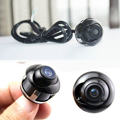 Waterproof  Mini 360° CCD HD Car Front Side Reverse Camera Rear View Parking 12V