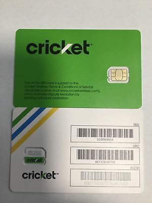 Brand New Cricket Wireless Replacement Nano Sim Card good for activation