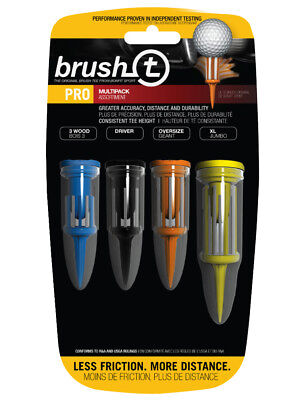Brush T Pro Tees 4 Pack Mixed