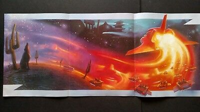 Zz Top Eliminator Afterburner  (1987) Large Rare Original Print Promo Poster Ad